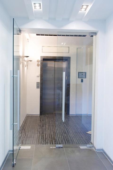 маятниковая стеклянная дверь одесса